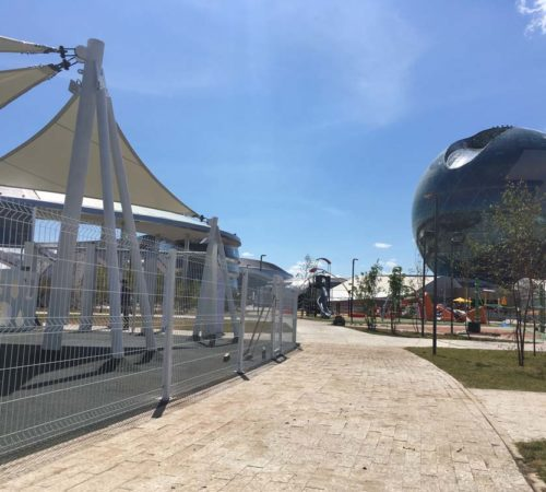 Белые ограждения EXPO-2017 (ЭКСПО -2017)