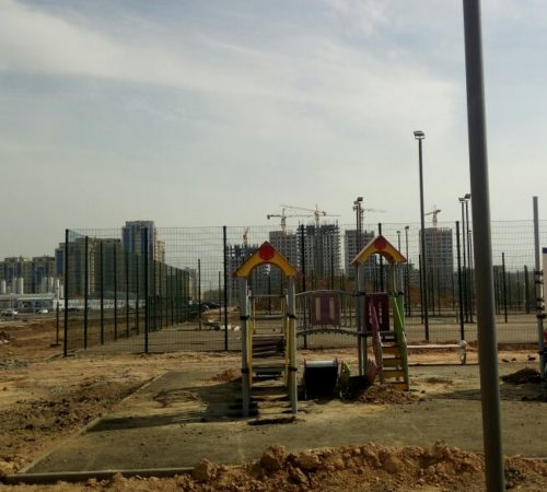 Установка детской игровой площадки